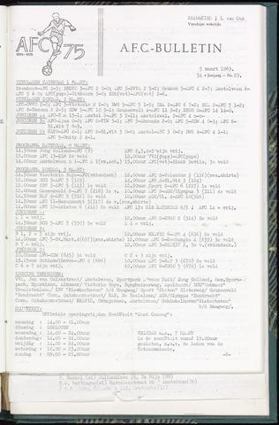 Bulletins (vnl. opstellingen) 1969-03-05