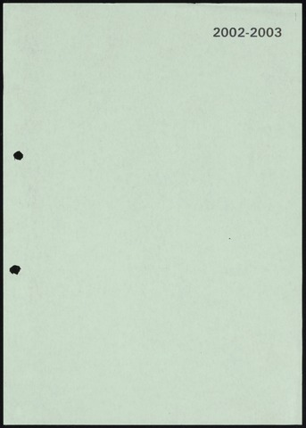 Jaarverslagen 2003-06-01