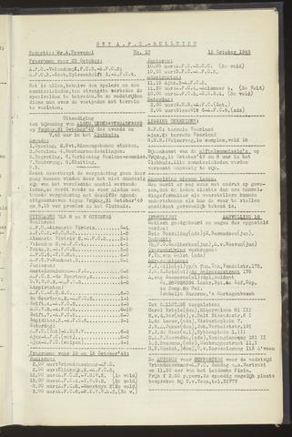 Bulletins (vnl. opstellingen) 1949-10-12