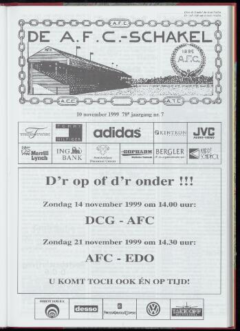 Schakels (clubbladen) 1999-11-10