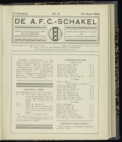 Schakels (clubbladen) 1929-03-30