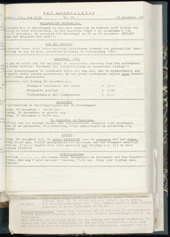 Bulletins (vnl. opstellingen) 1963-12-11