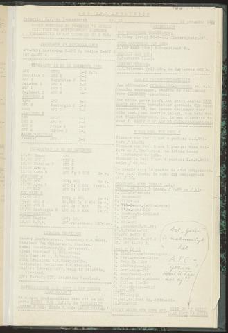 Bulletins (vnl. opstellingen) 1955-11-15