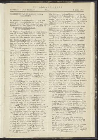 Bulletins (vnl. opstellingen) 1952-07-03