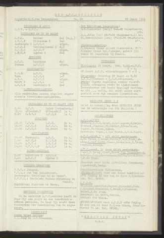 Bulletins (vnl. opstellingen) 1952-03-25