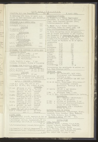 Bulletins (vnl. opstellingen) 1952-04-08