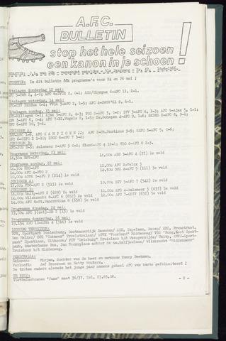 Bulletins (vnl. opstellingen) 1966-05-18
