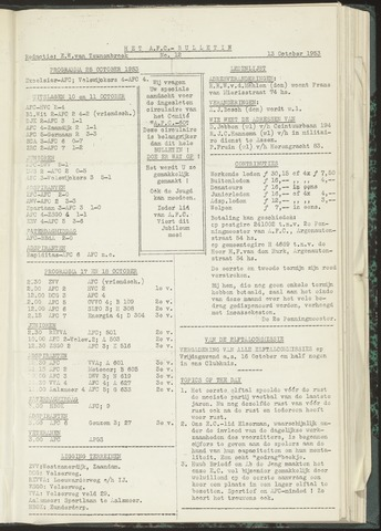 Bulletins (vnl. opstellingen) 1953-10-13