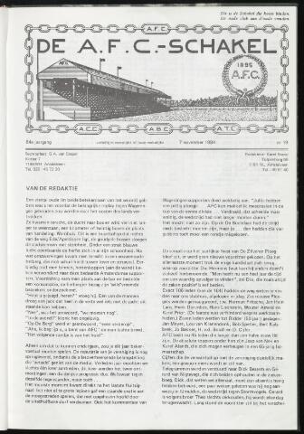 Schakels (clubbladen) 1984-11-07