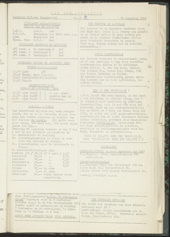 Bulletins (vnl. opstellingen) 1954-08-24