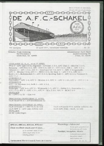 Schakels (clubbladen) 1977-04-20
