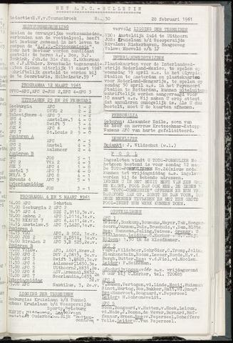 Bulletins (vnl. opstellingen) 1961-02-28