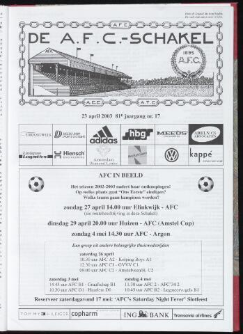Schakels (clubbladen) 2003-04-23
