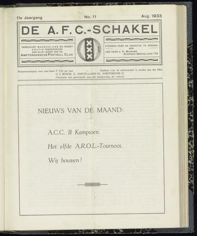 Schakels (clubbladen) 1933-08-01
