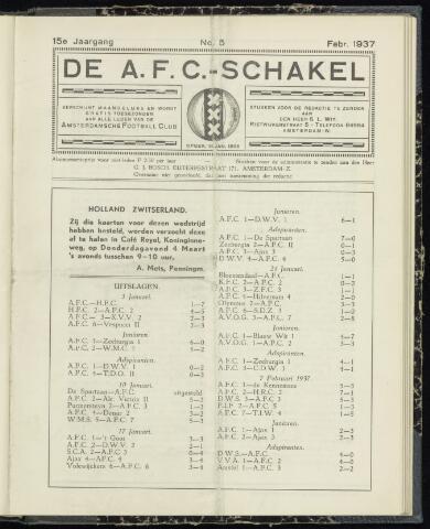 Schakels (clubbladen) 1937