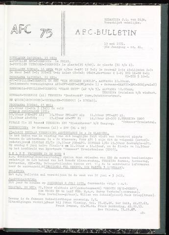 Bulletins (vnl. opstellingen) 1971-05-19