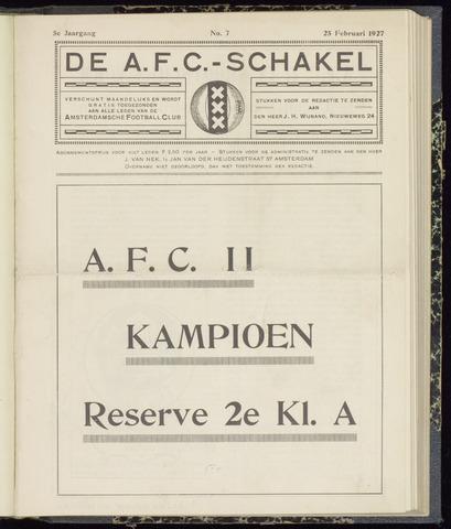 Schakels (clubbladen) 1927-02-28