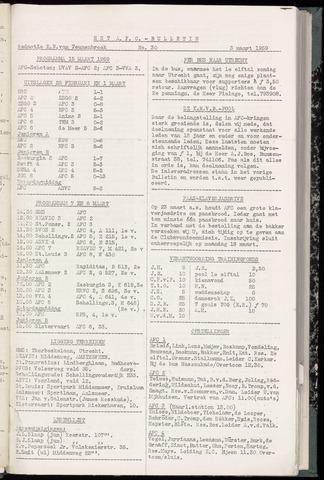 Bulletins (vnl. opstellingen) 1959-03-04