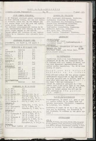 Bulletins (vnl. opstellingen) 1961-03-07