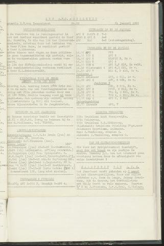 Bulletins (vnl. opstellingen) 1958-01-22