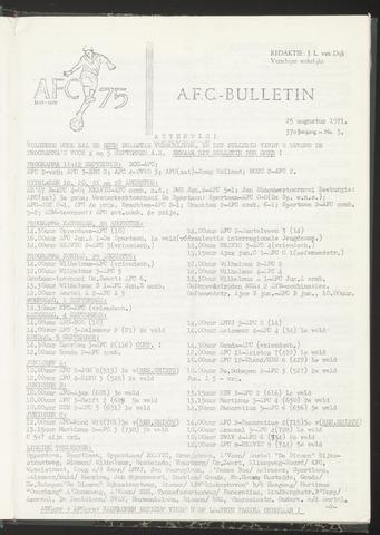 Bulletins (vnl. opstellingen) 1971-08-25