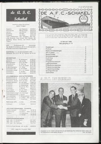 Schakels (clubbladen) 1986-02-12