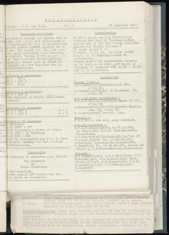 Bulletins (vnl. opstellingen) 1963-08-14