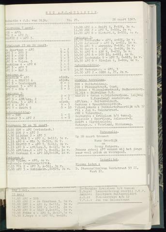Bulletins (vnl. opstellingen) 1963-03-20