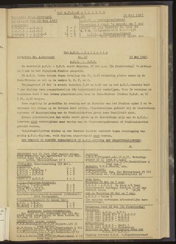 Bulletins (vnl. opstellingen) 1947-05-22