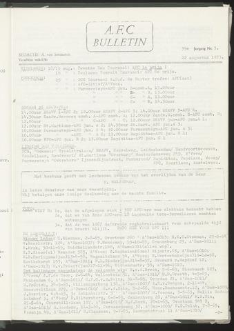 Bulletins (vnl. opstellingen) 1973-08-22