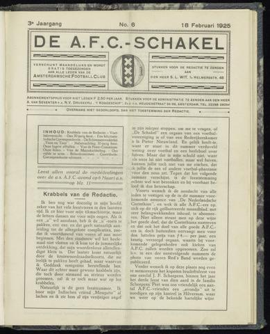 Schakels (clubbladen) 1925-02-18