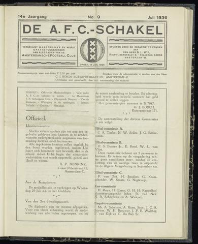 Schakels (clubbladen) 1936-07-01