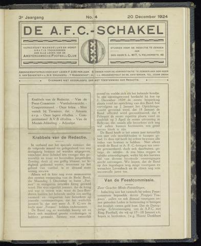 Schakels (clubbladen) 1924-12-20