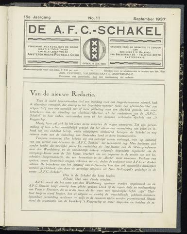 Schakels (clubbladen) 1937-09-01