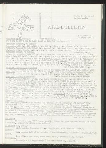 Bulletins (vnl. opstellingen) 1971-11-03