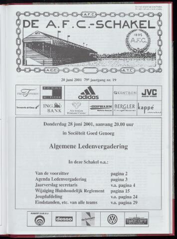 Schakels (clubbladen) 2001-06-20