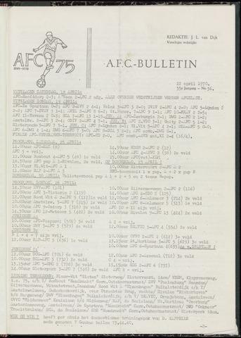 Bulletins (vnl. opstellingen) 1970-04-22