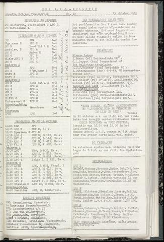 Bulletins (vnl. opstellingen) 1960-10-11