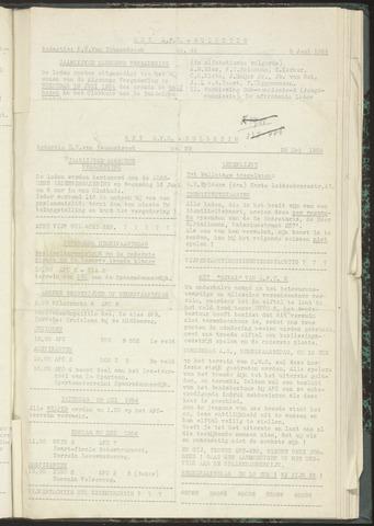Bulletins (vnl. opstellingen) 1954-05-25
