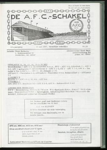Schakels (clubbladen) 1977-05-18