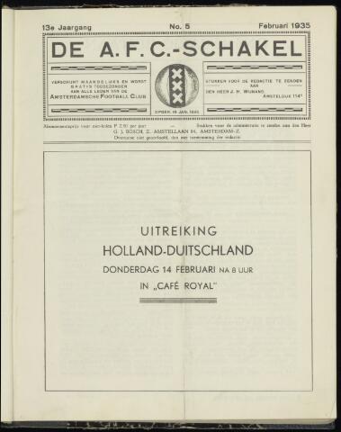 Schakels (clubbladen) 1935-02-01