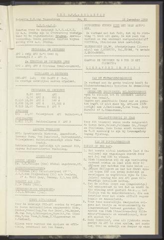 Bulletins (vnl. opstellingen) 1952-12-16