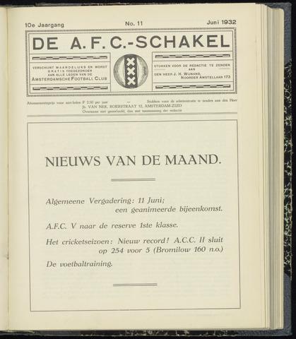 Schakels (clubbladen) 1932-06-01