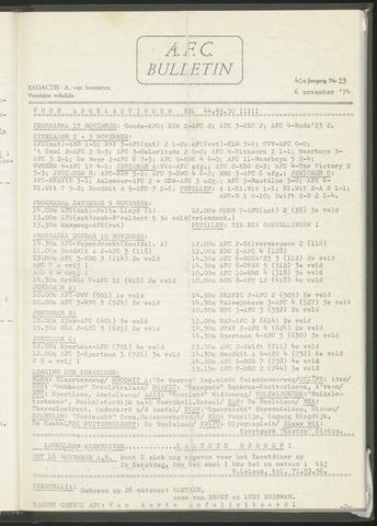 Bulletins (vnl. opstellingen) 1974-11-06