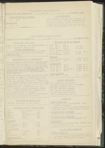 Bulletins (vnl. opstellingen) 1954-01-19