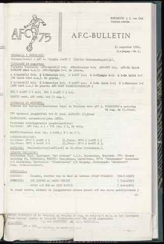 Bulletins (vnl. opstellingen) 1968-08-21