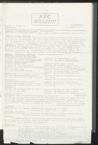 Bulletins (vnl. opstellingen) 1972-09-20
