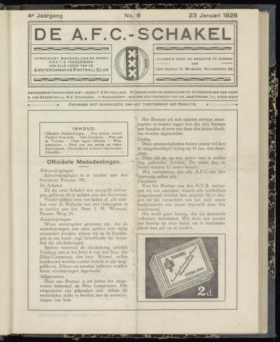 Schakels (clubbladen) 1926-01-23