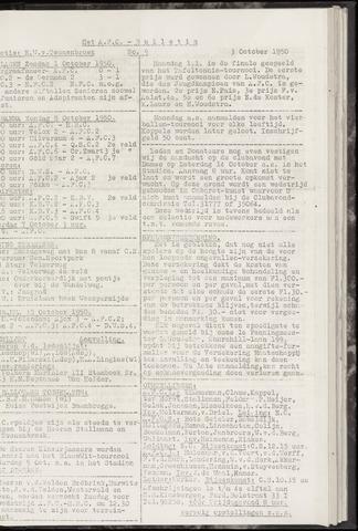 Bulletins (vnl. opstellingen) 1950-10-03