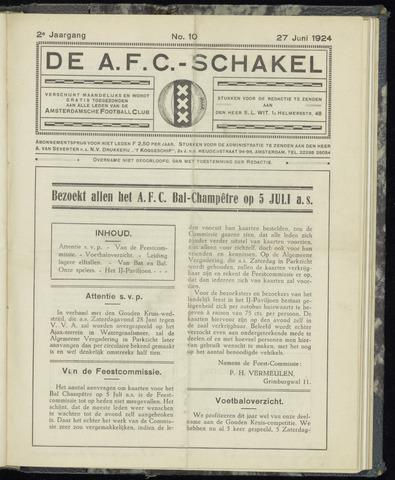 Schakels (clubbladen) 1924-06-27